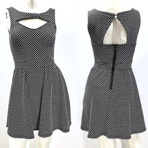 Material Girl Keyhole Fit & Flare Dress